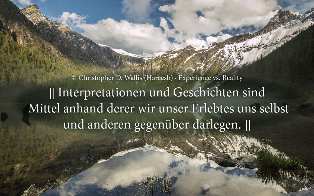 Realität versus Interpretation